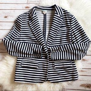 Merona striped blazer size L